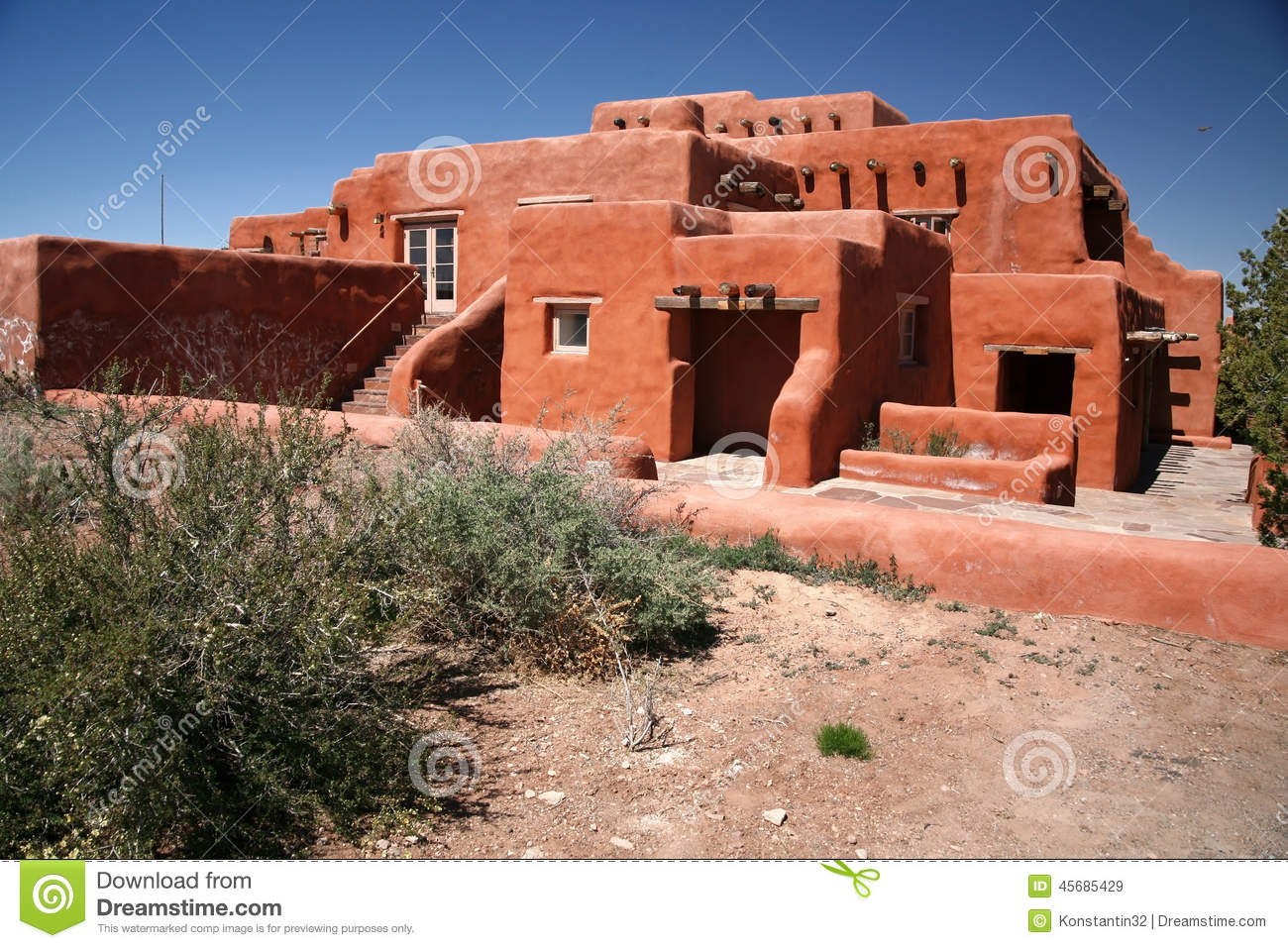 Classic adobe house stock image image of character adobe for Cost to build adobe home