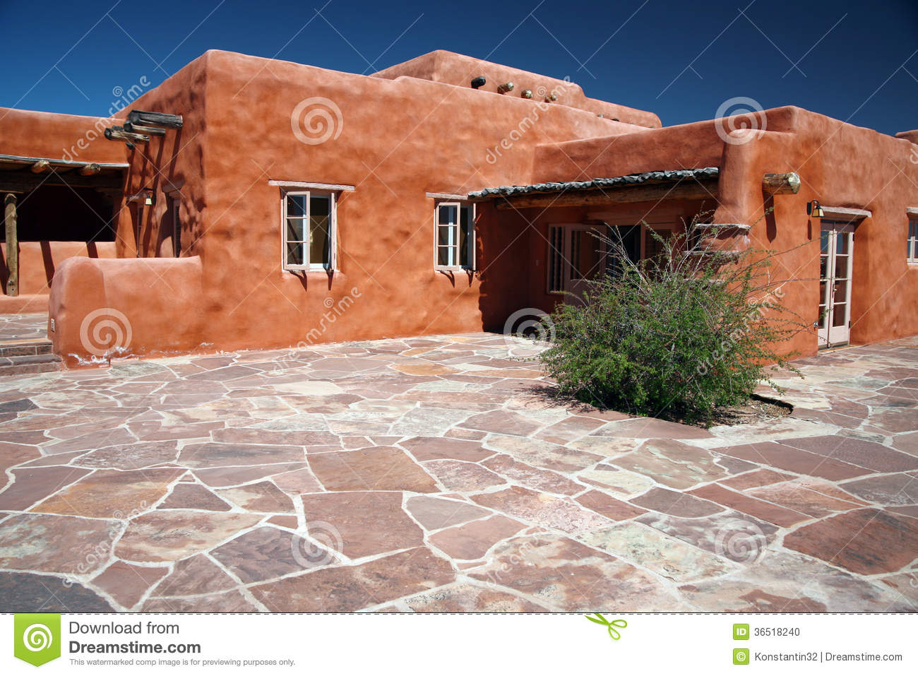 Classic adobe house stock photo image 36518240 for Old house classics