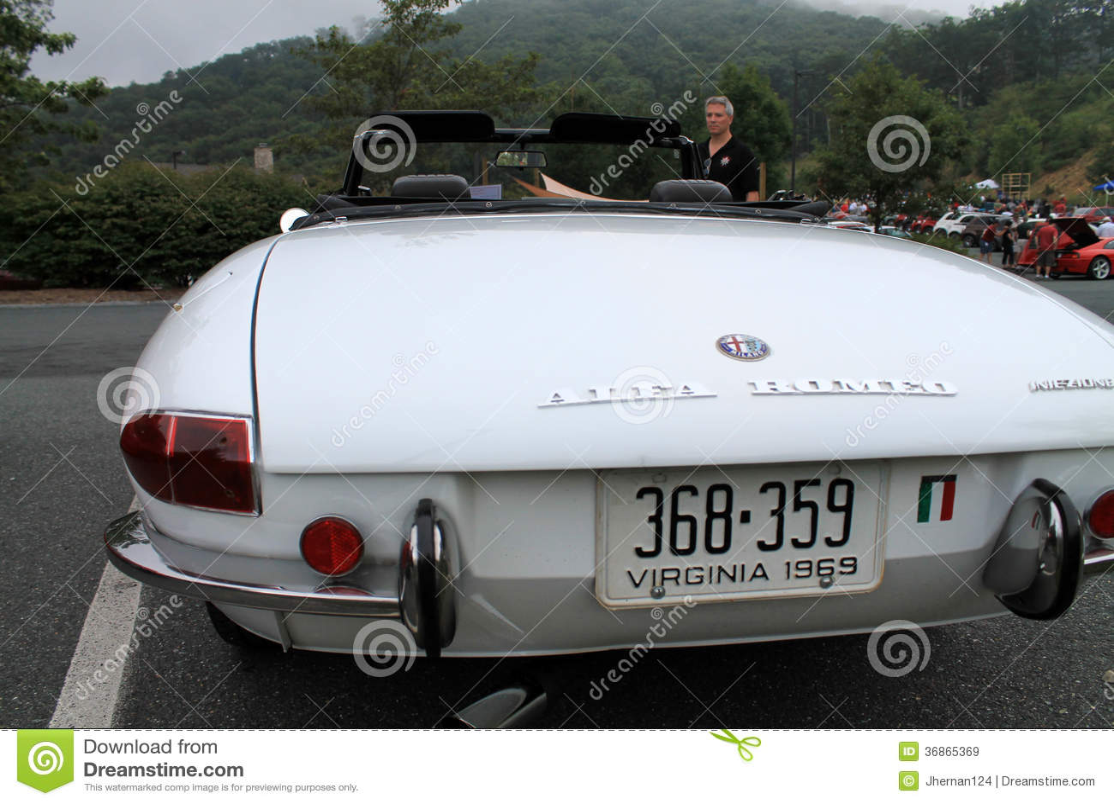 Classic Alfa Romeo Sports Car Rear Editorial Stock Image Image Of