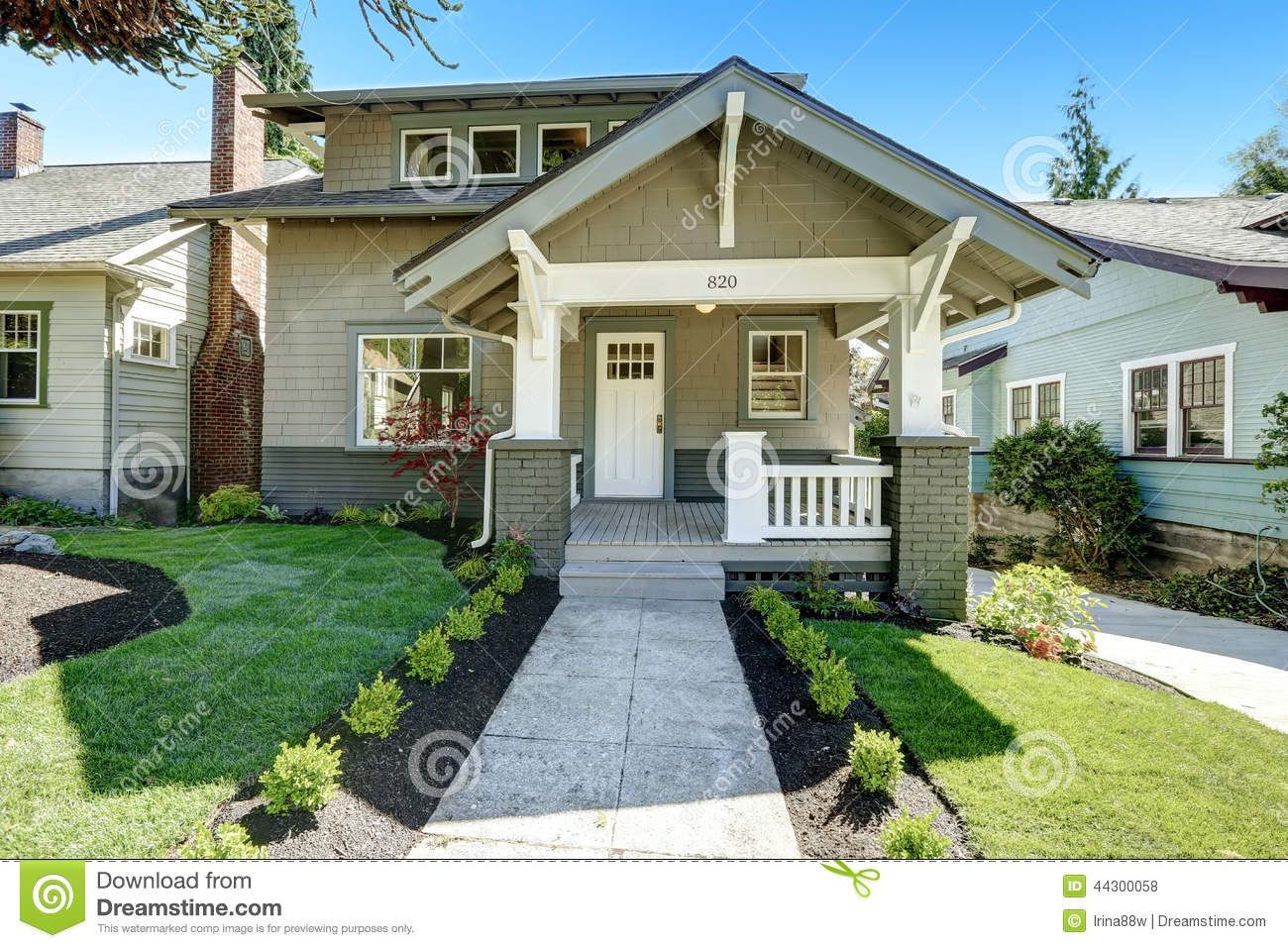 Classic america house exterior stock photo image of for Classic house fronts