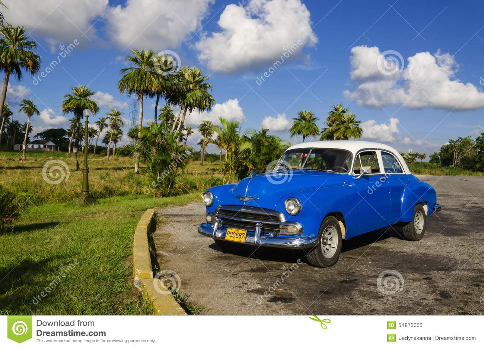 American classic car in havana editorial photo for Classic american