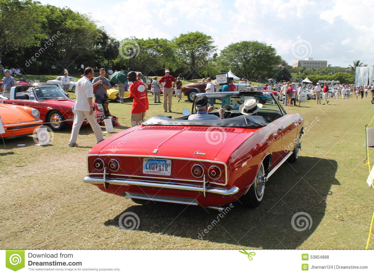 classic american car driving away editorial stock photo image of