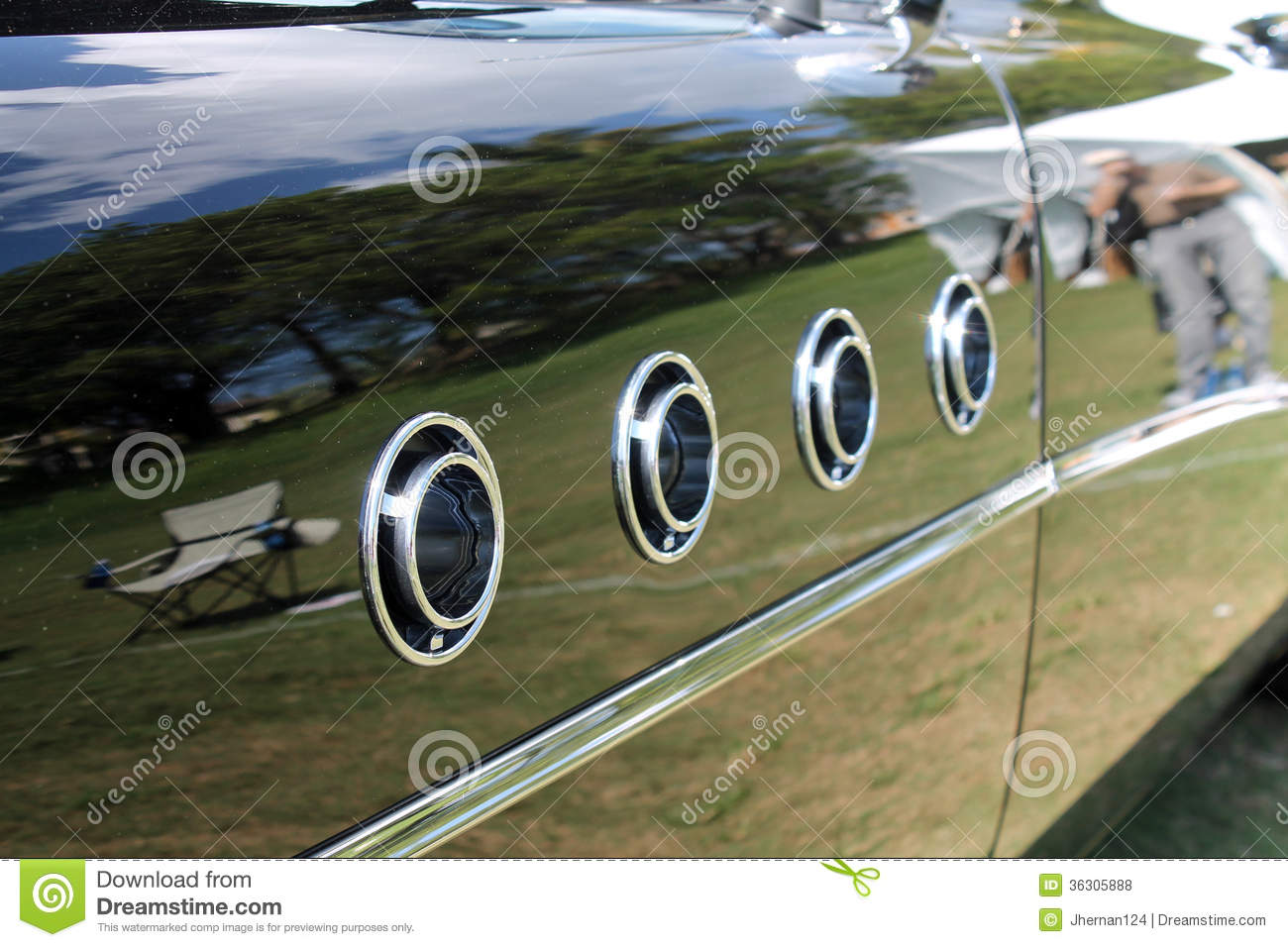 classic american car fender detail royalty free stock photos image 36305888. Black Bedroom Furniture Sets. Home Design Ideas