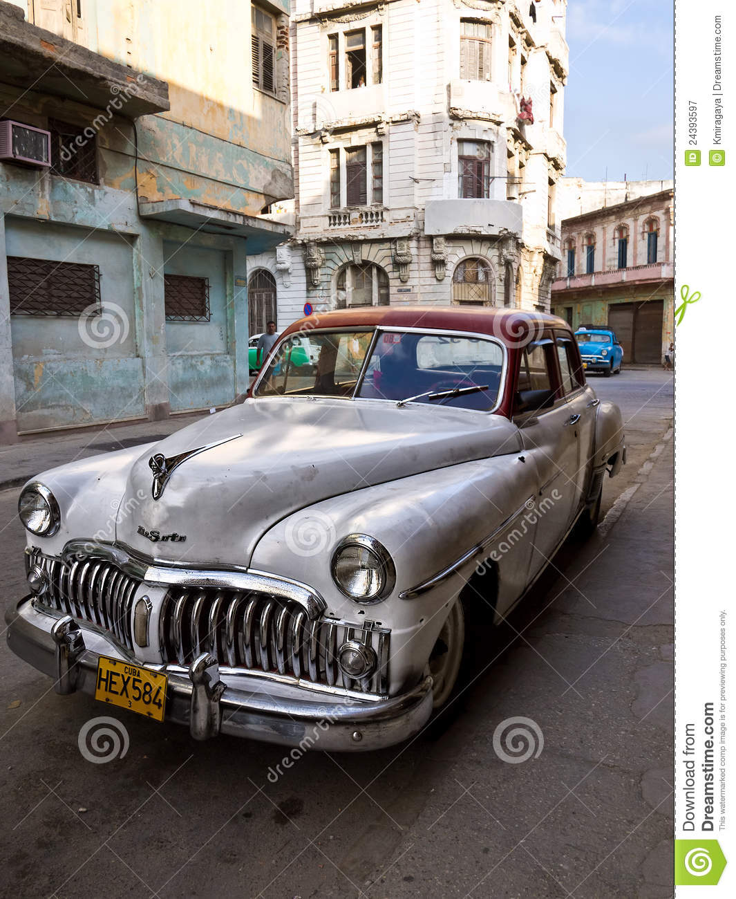 Classic american car in old havana editorial photography for Old american cars