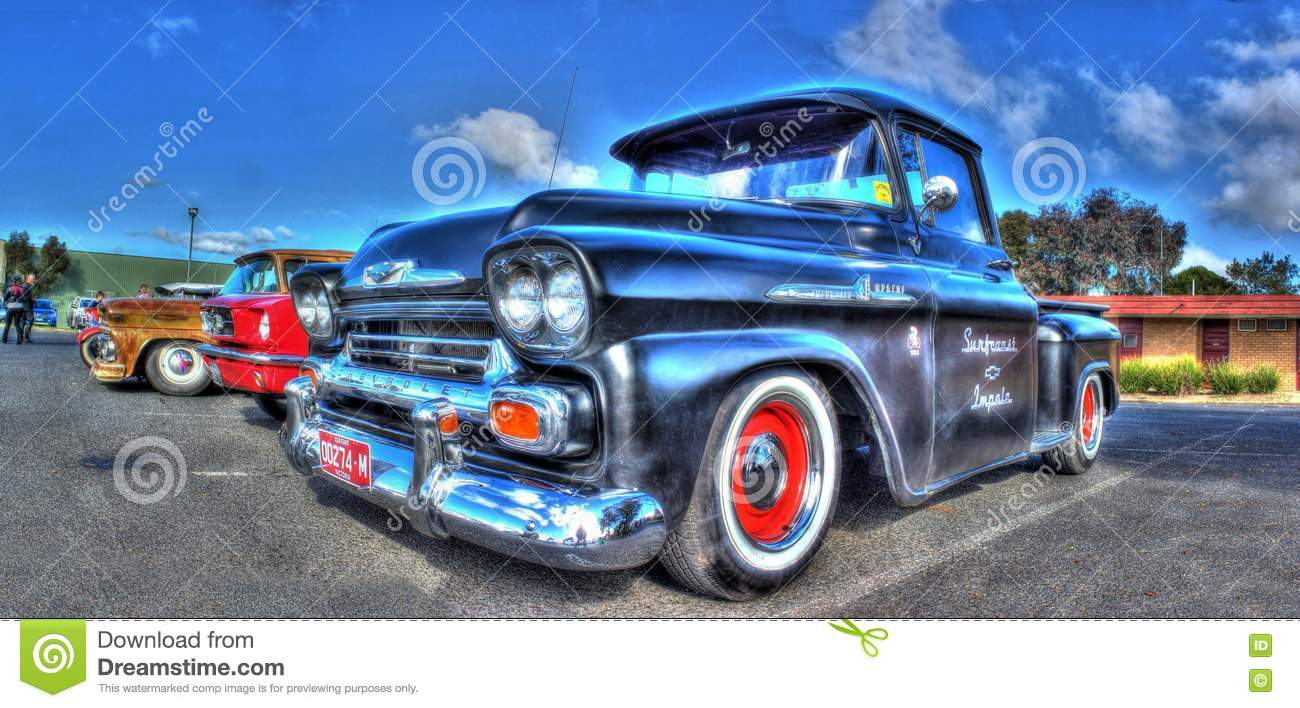 Classic american chevy truck editorial photo for American classic motor cars