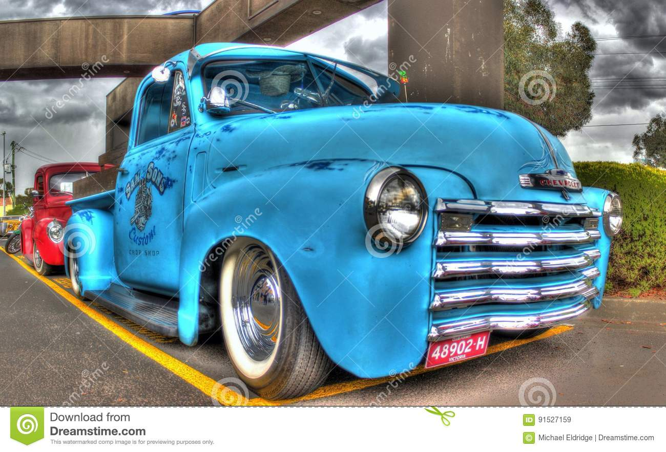 Old Pickup Lights : Classic american chevy pickup truck editorial stock image