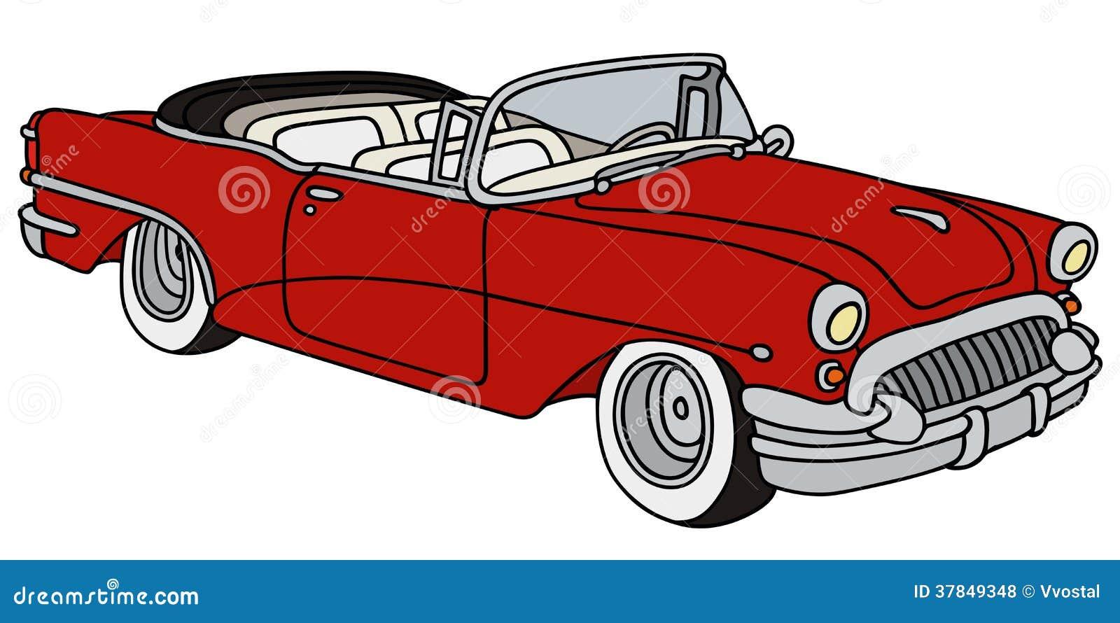 Classic american convertible stock illustration for Classic american convertibles
