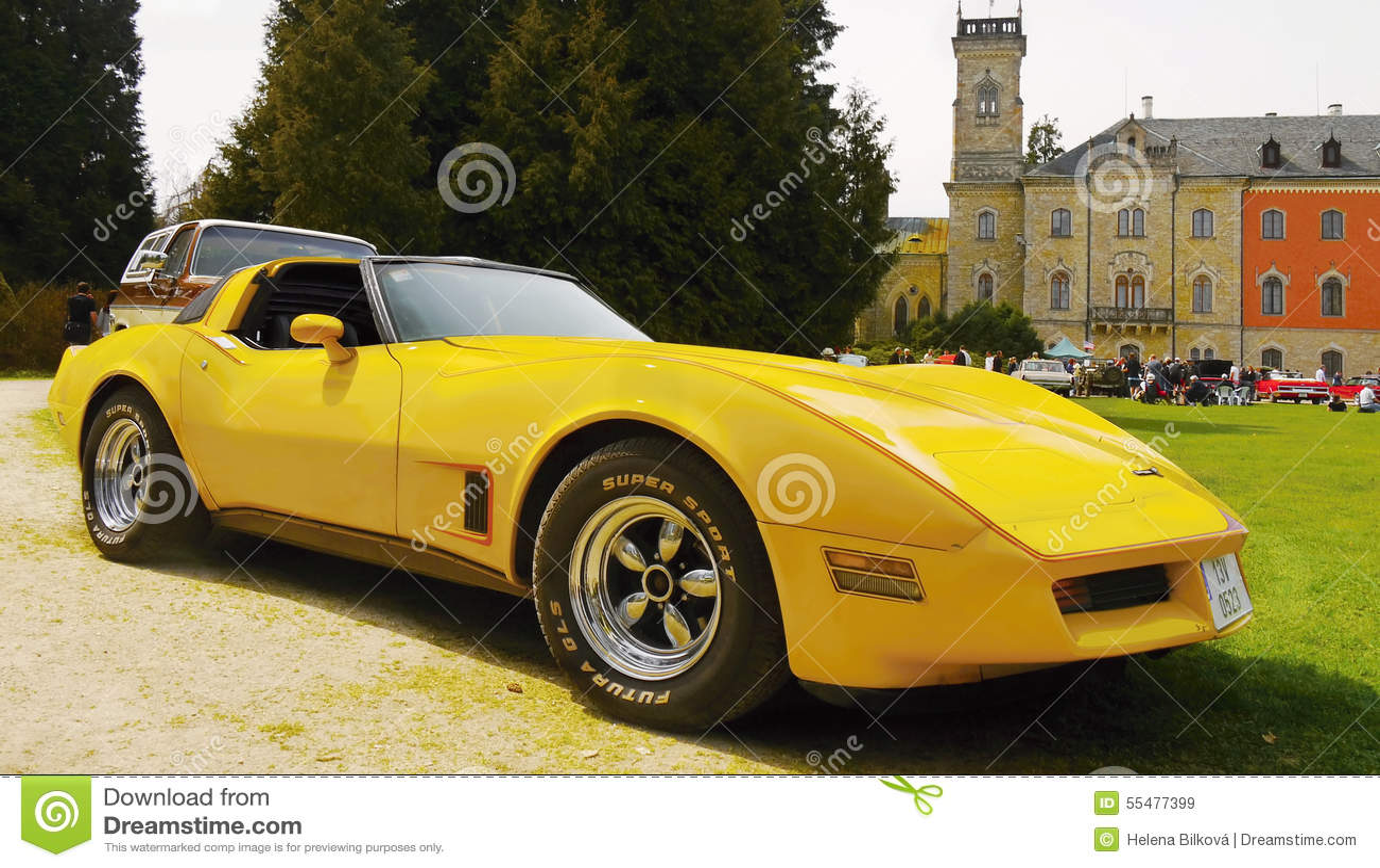 Chevrolet Corvette Sports Car Editorial Stock Image