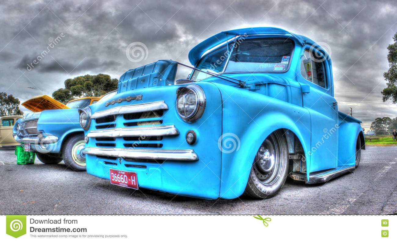 Classic American Dodge Pick Up Truck Editorial Photography Image - Winters car show