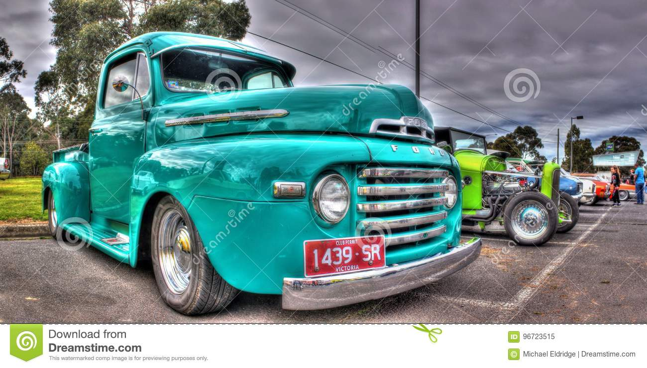 Classic American Ford Pickup Truck Editorial Image Image Of Farm