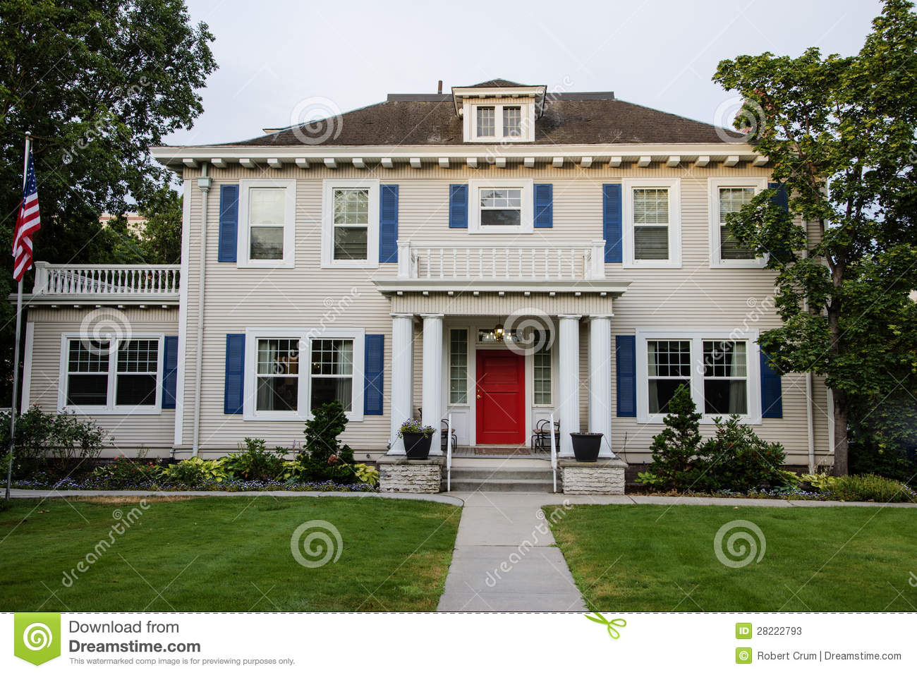 classic american house stock photos image 28222793