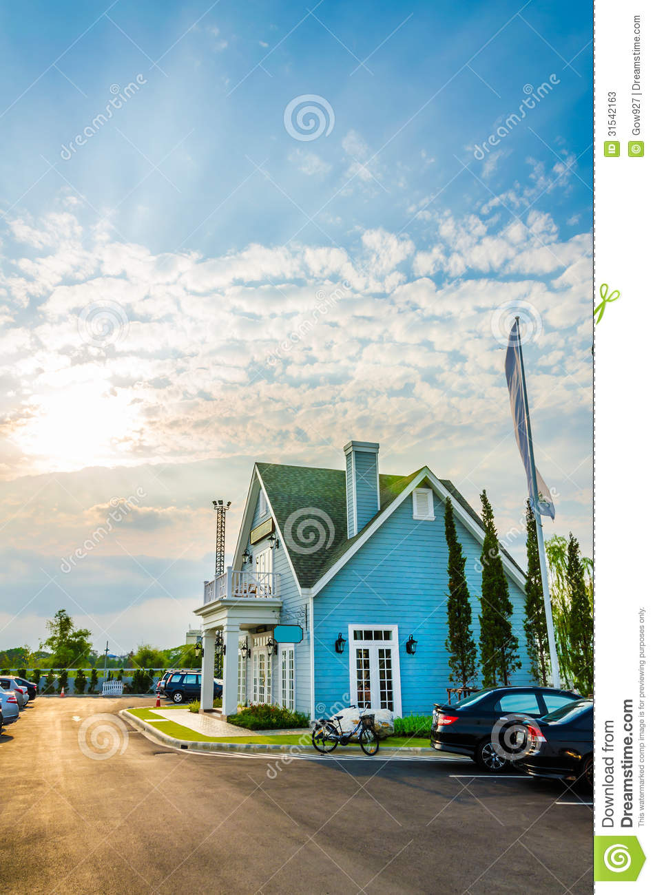 Classic American House In The Sunset Stock Photos Image
