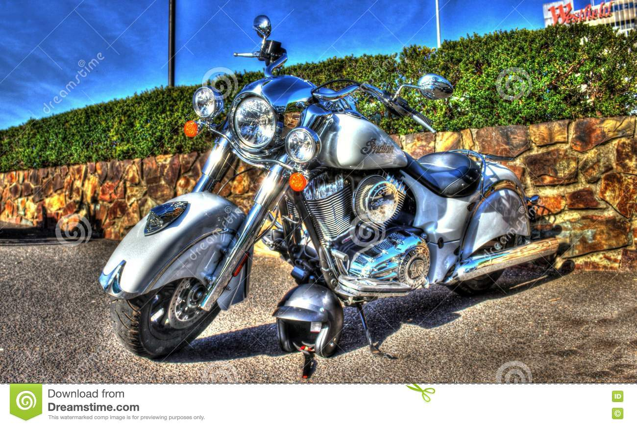 Classic American Indian Motorcycle Editorial Image