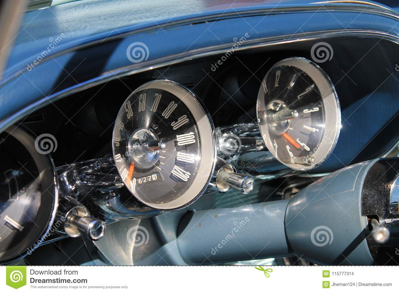 Classic American Luxury Sports Car Interior Stock Photo Image Of