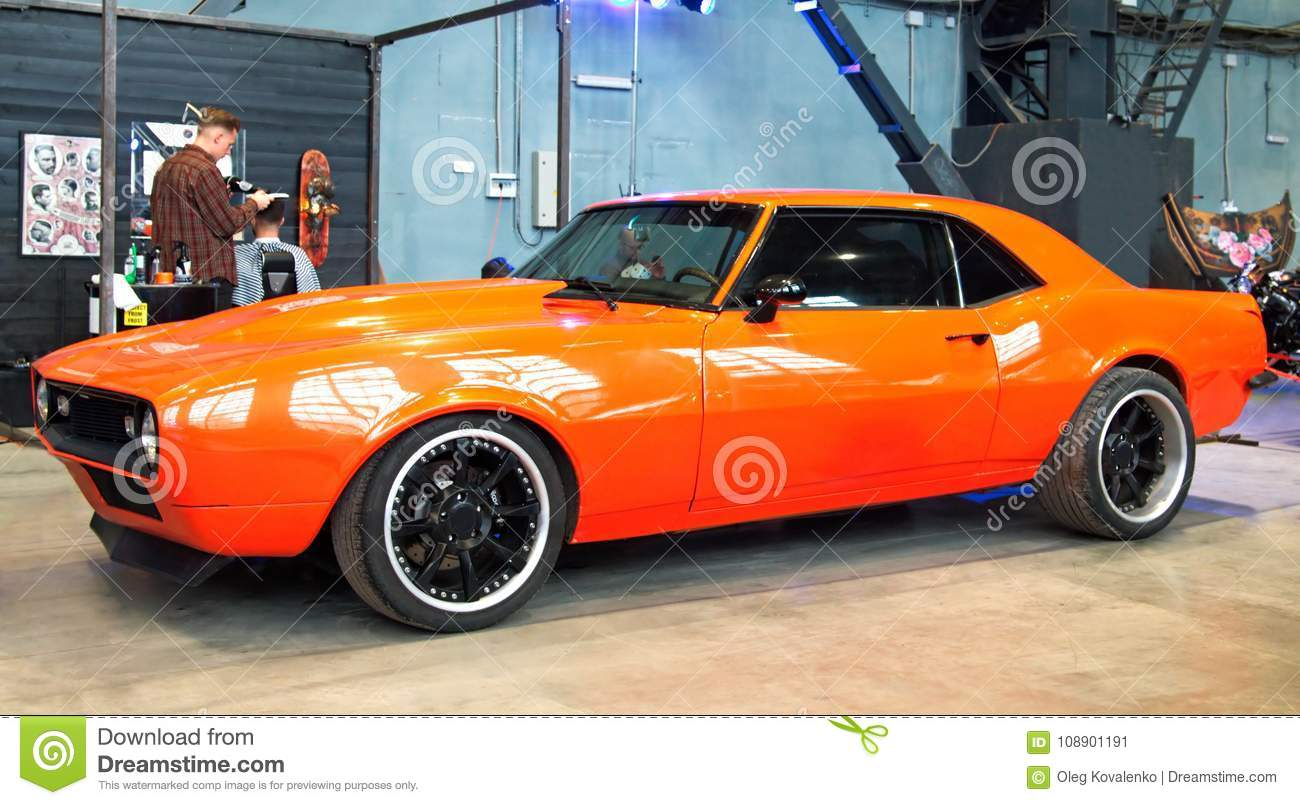 Classic American Muscle Car On Custom Tuning Show Editorial Photo