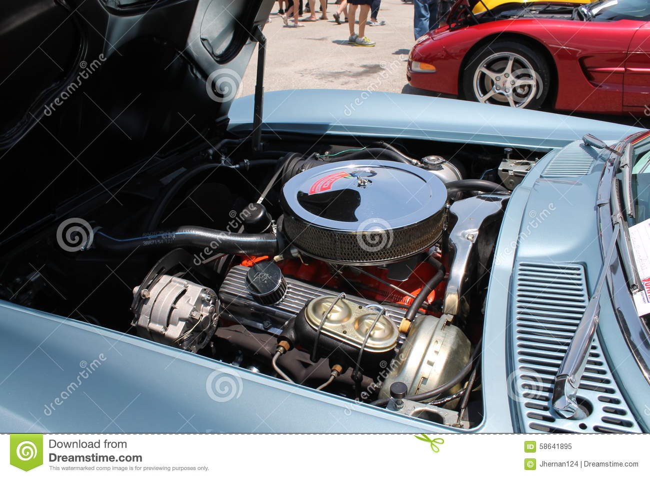 Classic American Muscle Car Engine Editorial Stock Photo Image