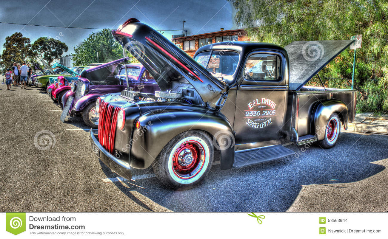 Classic american pick up truck editorial stock image for American custom classics