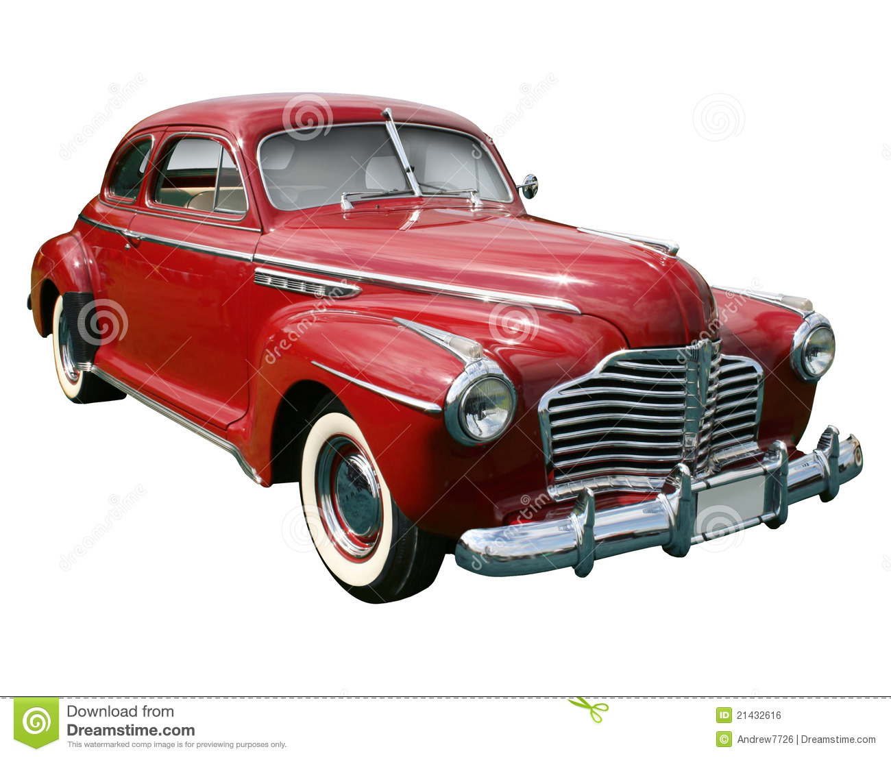 Classic American Red Car Royalty Free Stock Image Image