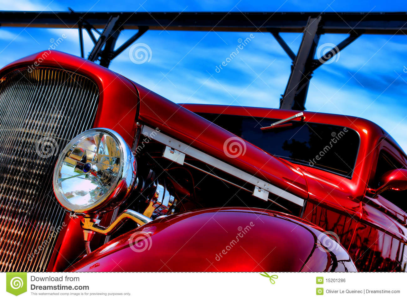Classic american red hot rod speeding stock photo image for American custom classics