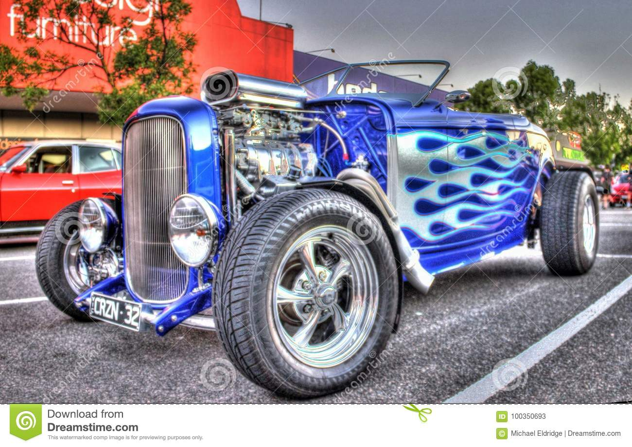 Classic American 1930s Ford Hot Rod Editorial Stock Photo - Image of ...
