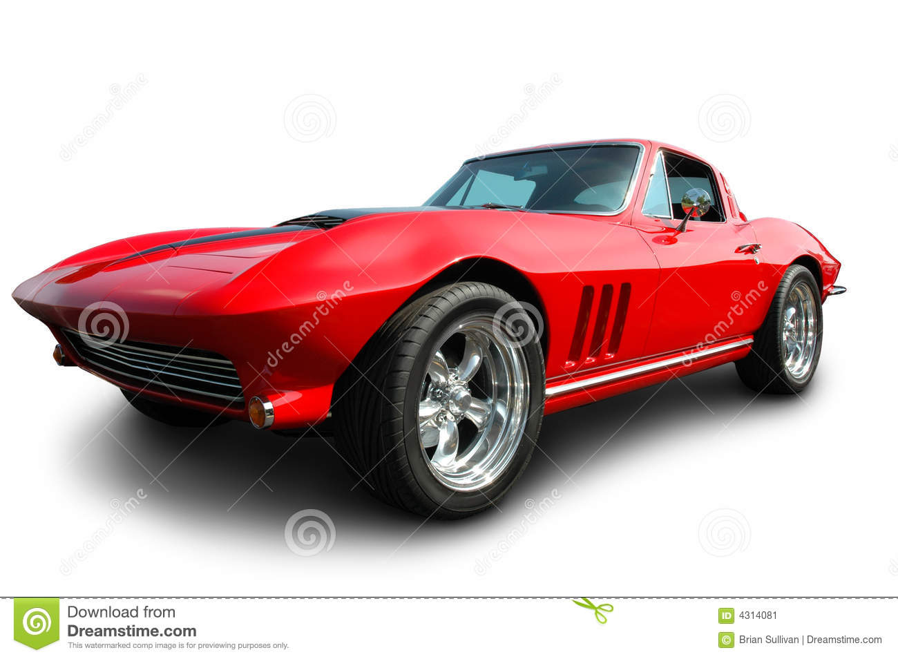 Classic American Sports Car Stock Image Image 4314081