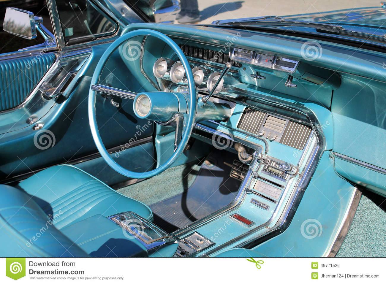 Classic American Sports Car Interior Stock Photo 49771526 Megapixl