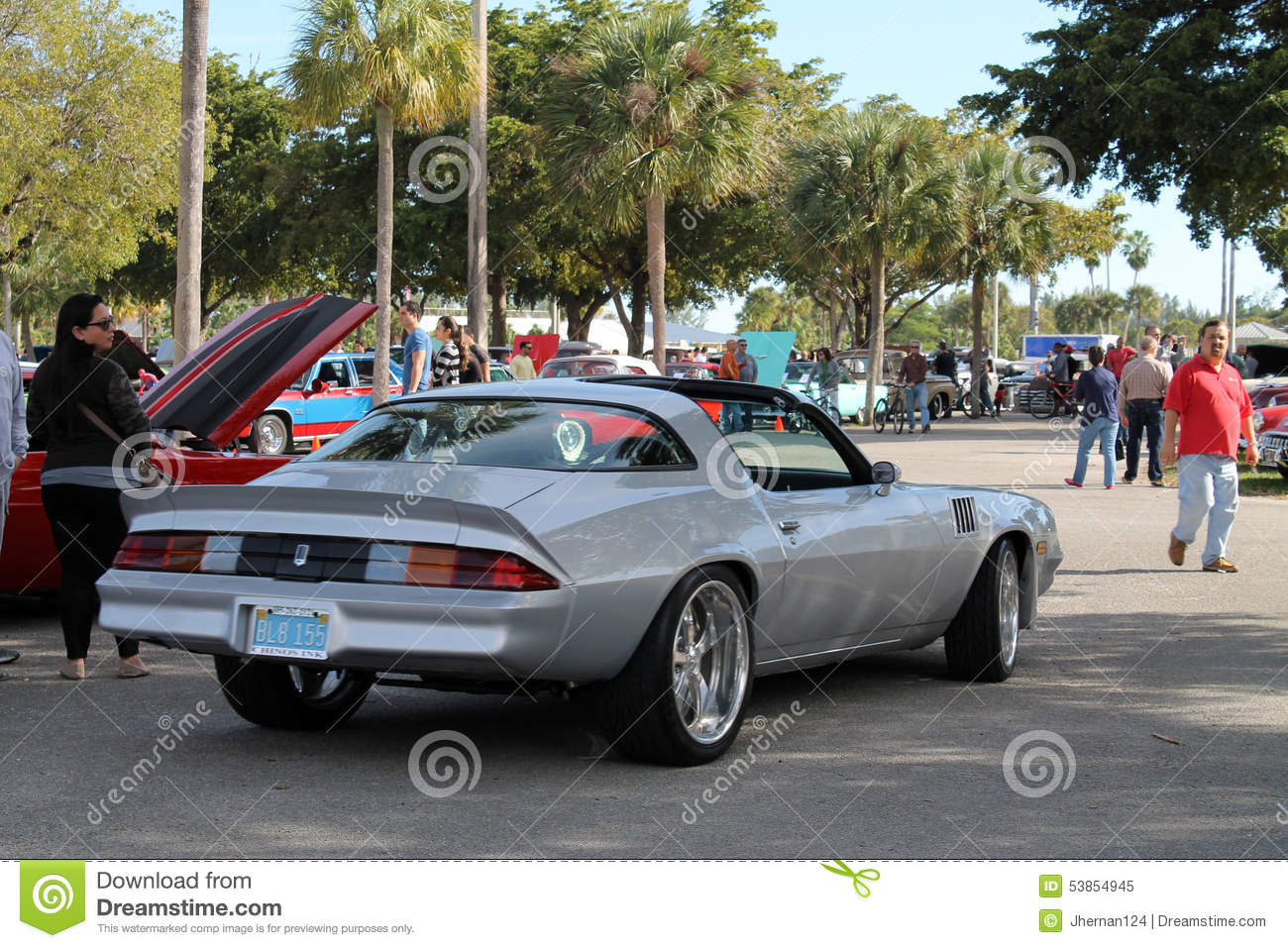 Classic American Sports Car Editorial Image - Image of florida ...