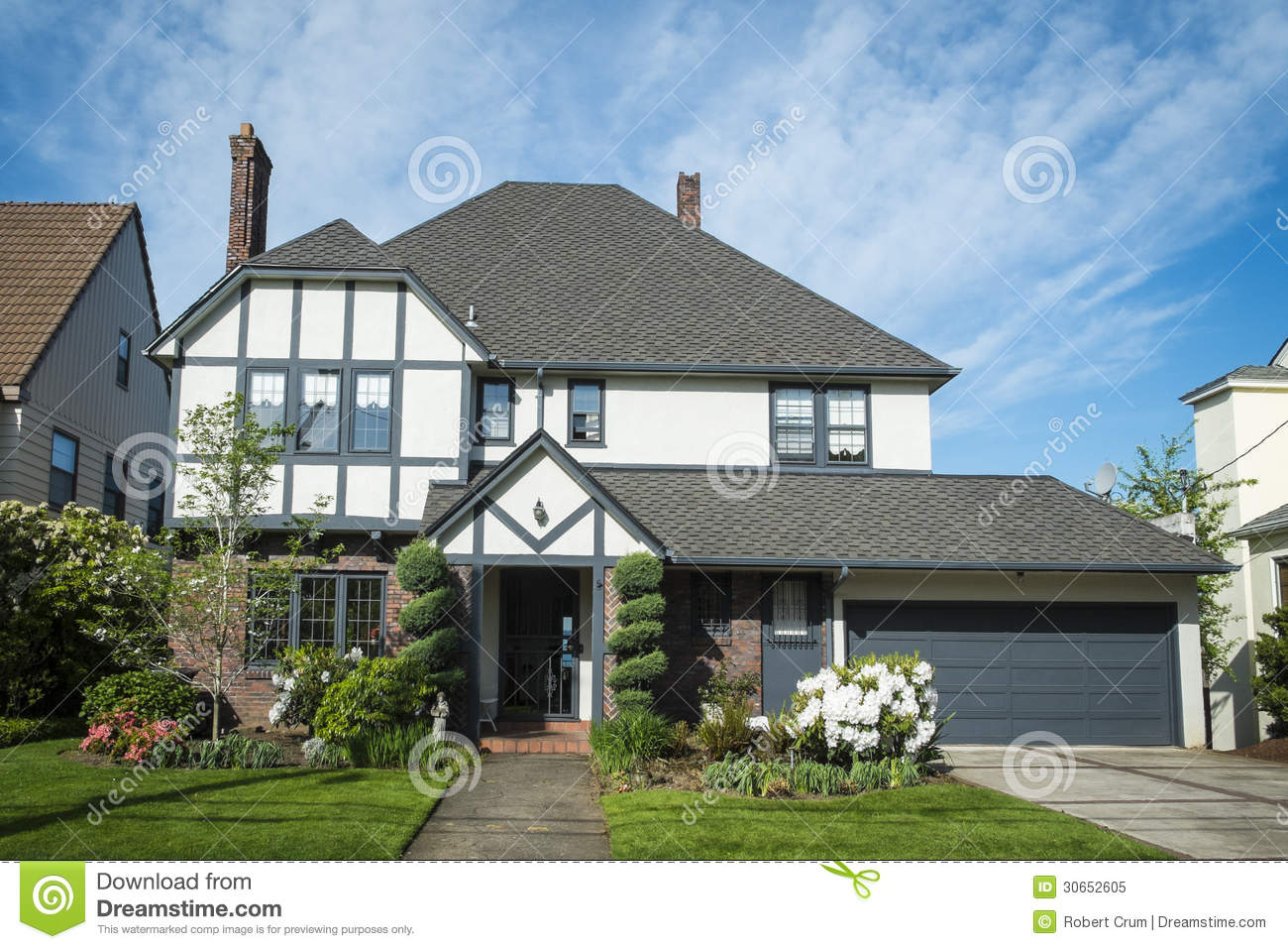 Classic american suburban house royalty free stock photo for Classic american house