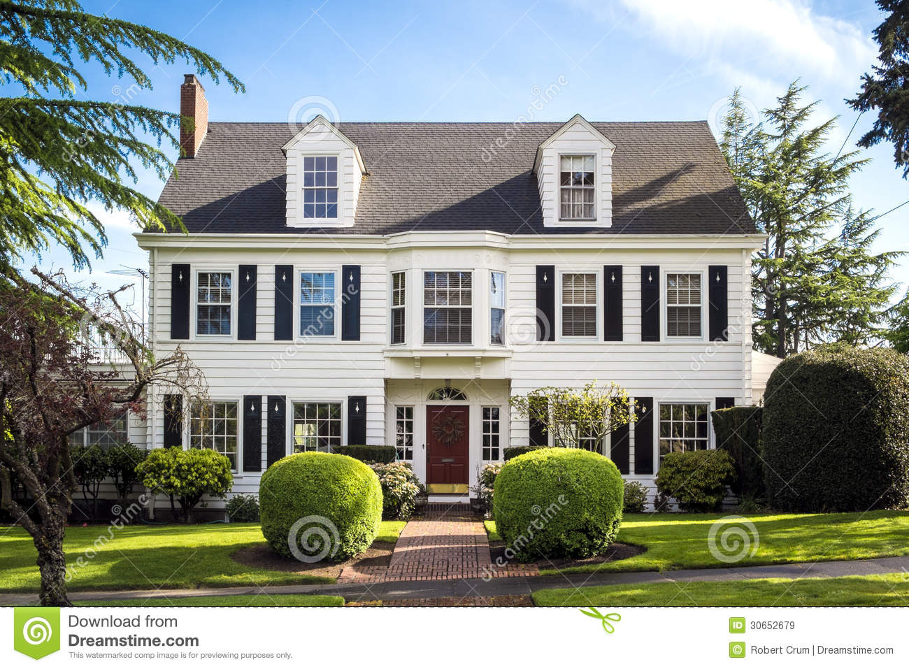 Classic american suburban house royalty free stock images for American classic house mouse