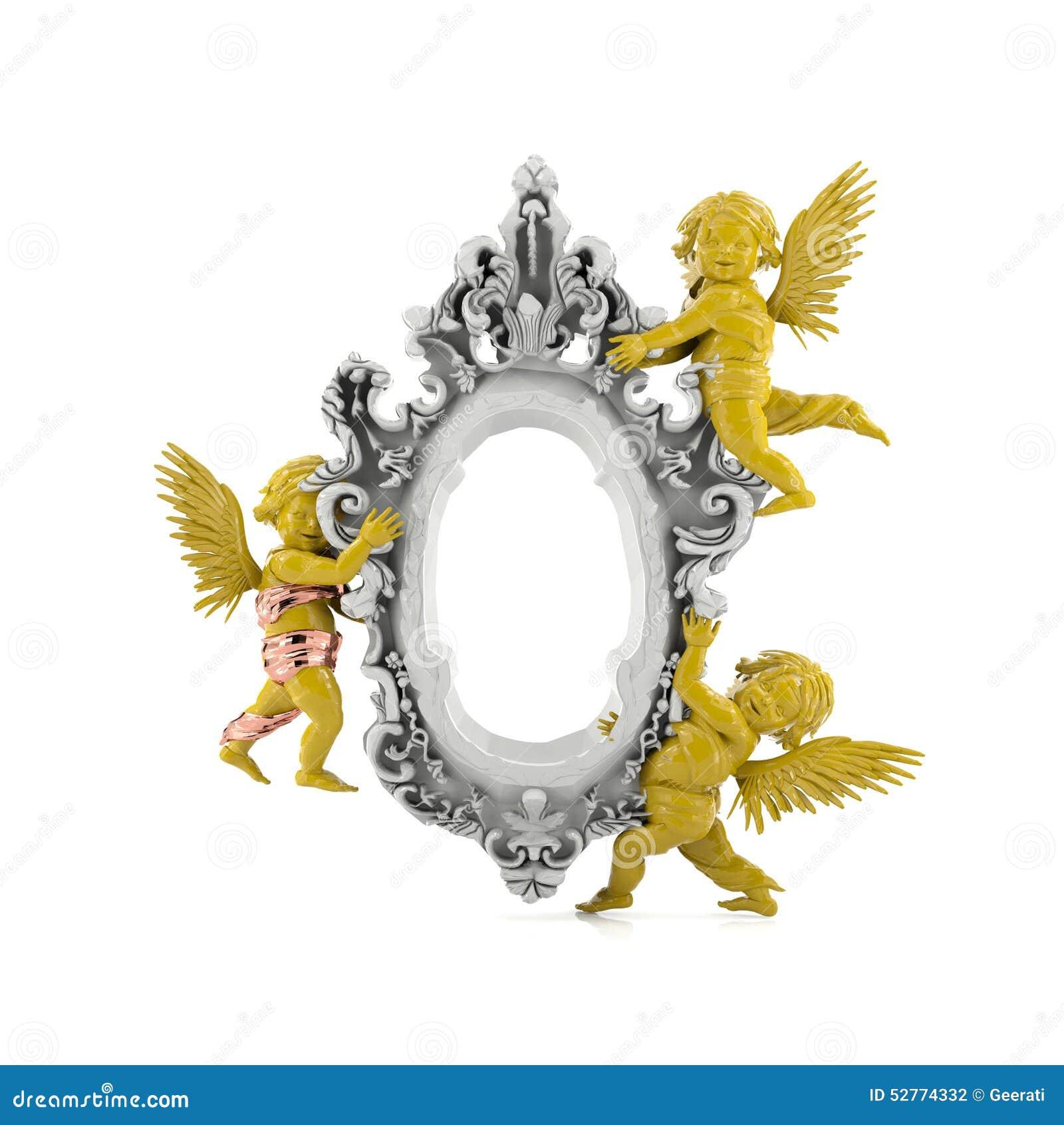 Classic angel frame stock photo. Image of empty, blank - 52774332