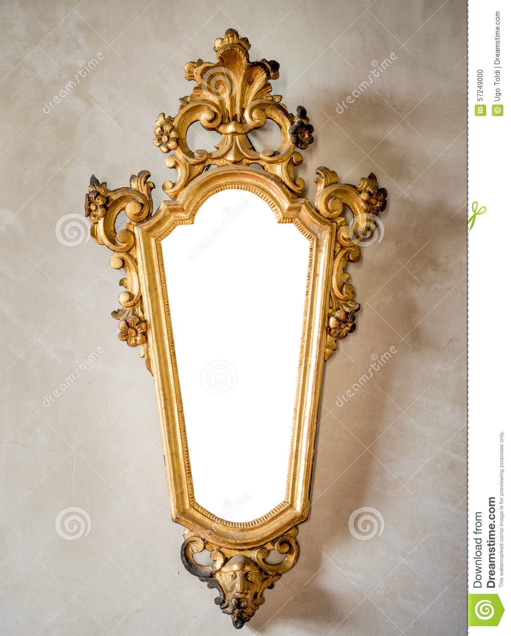 Classic antique mirror with gilded frame suitable as a for Miroir antique