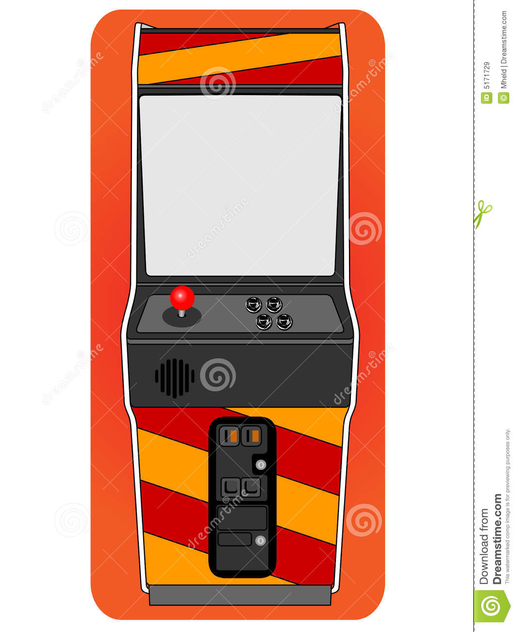Classic arcade cabinet stock vector. Image of emulator - 5171729