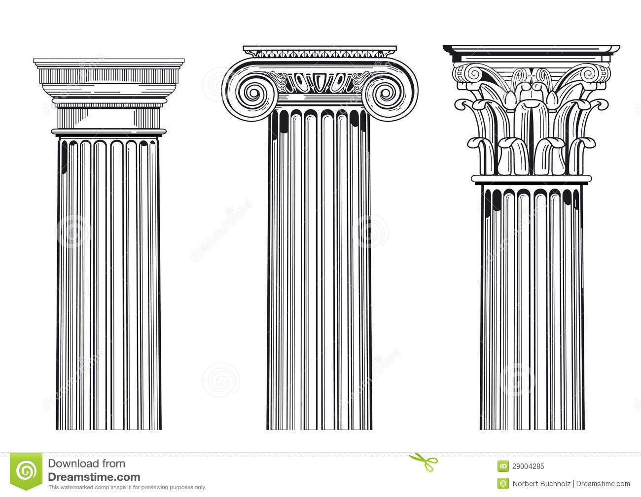 Classic architectural columns stock vector illustration for Architectural columns