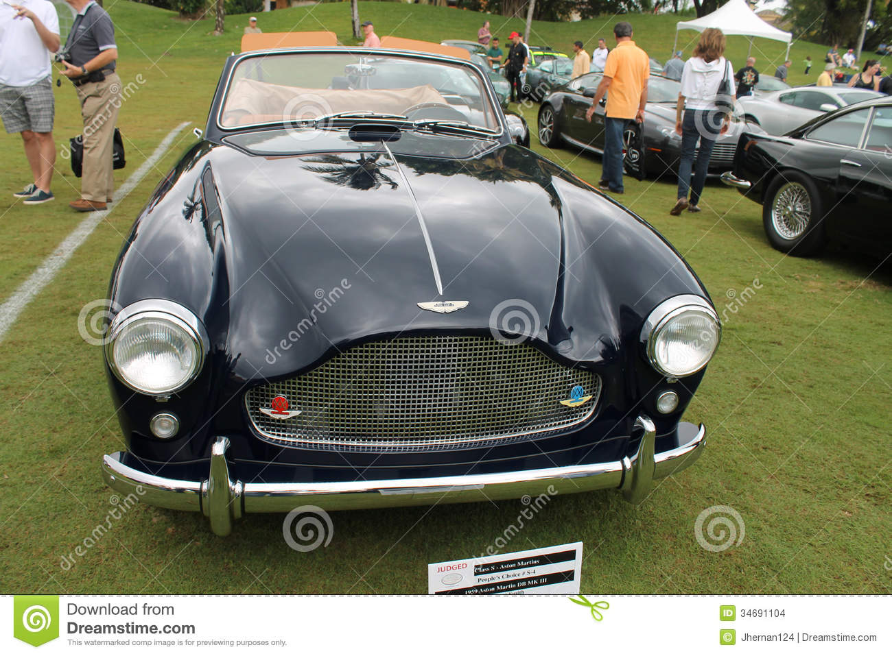 Classic Aston Martin Convertible Front View Editorial Stock Image