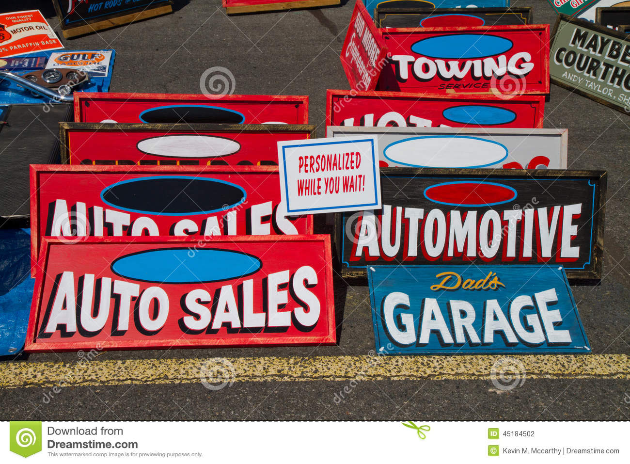 Classic automotive signs editorial photography for Auto fair at charlotte motor speedway