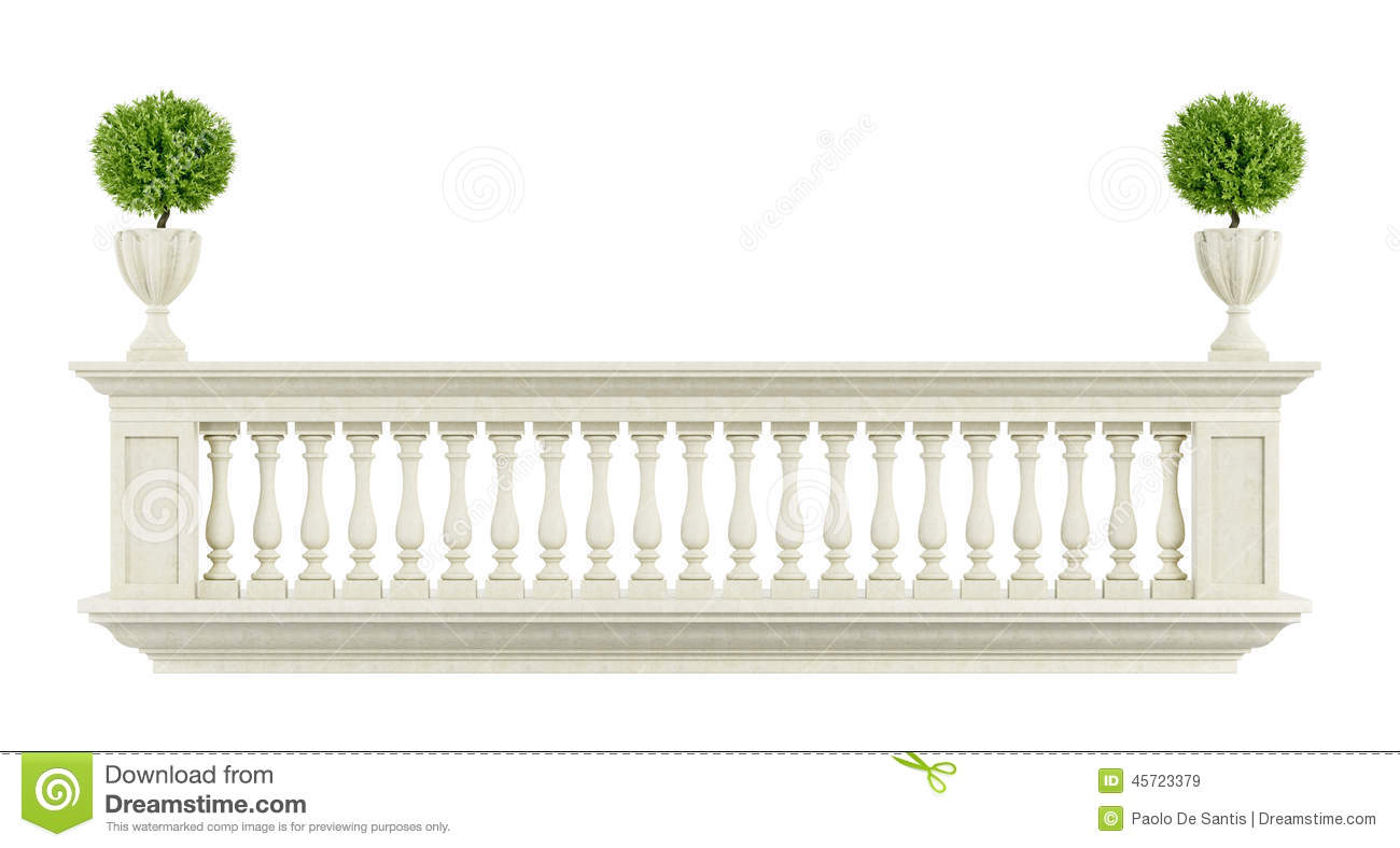 Classic balcony balustrade stock illustration image for Balcony clipart