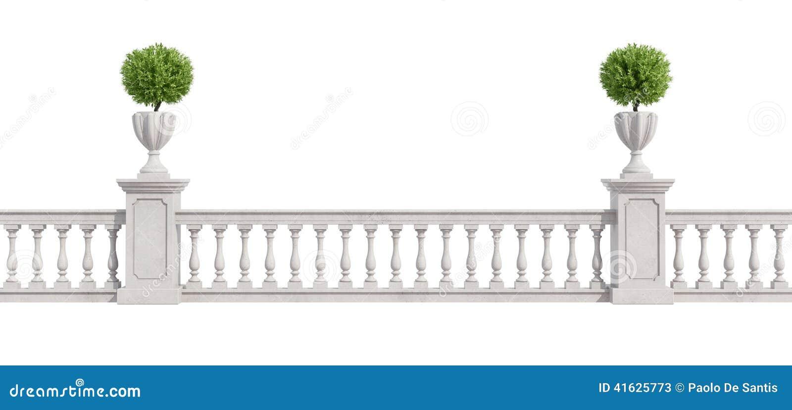 Classic balustrade isolated on white stock illustration image 41625773 - Balkon arbor ...