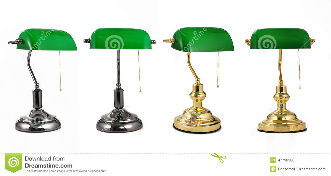 Energy Saving Lamp Green Classic Banker Desk Lamp Table