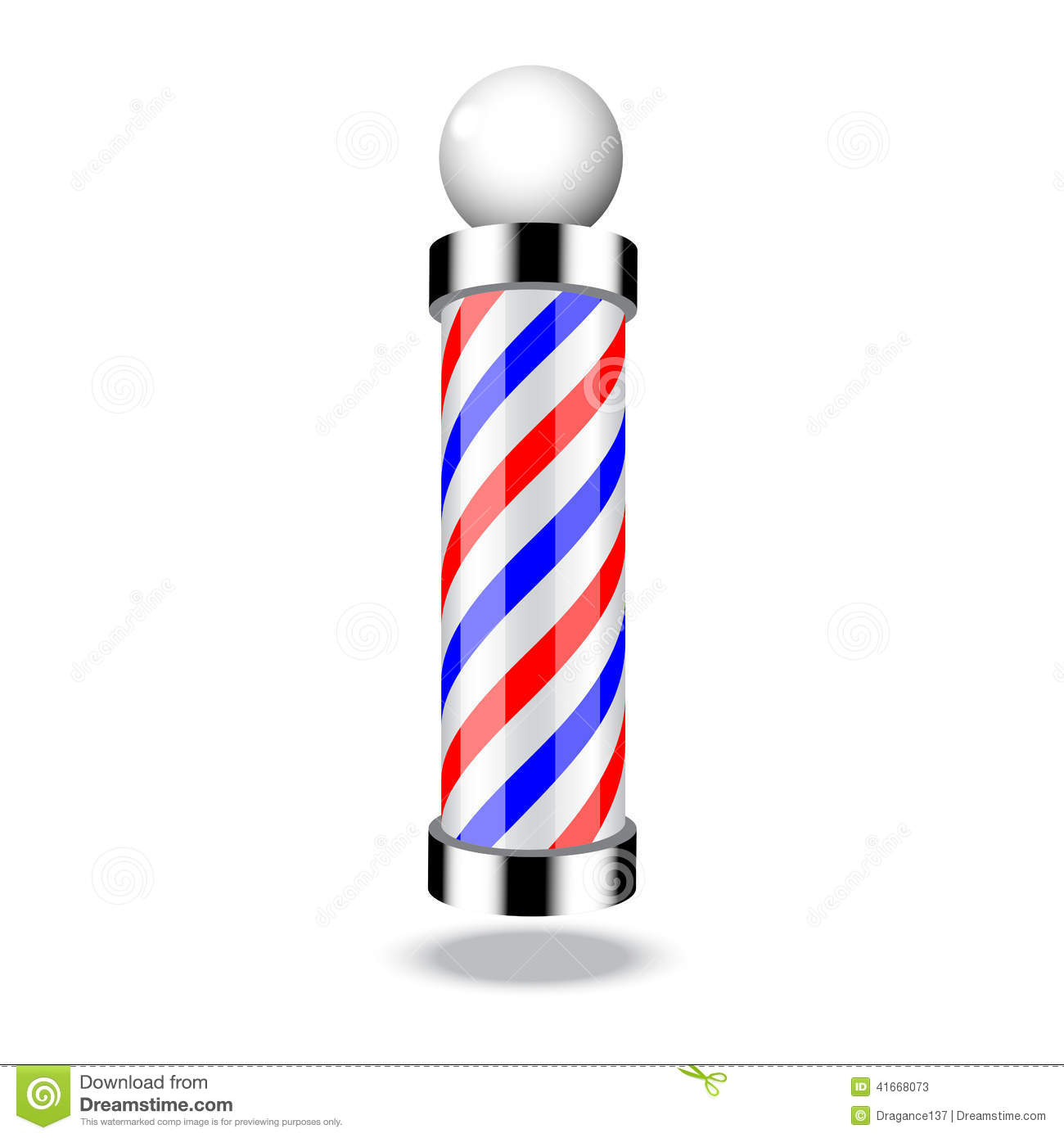 classic barber shop pole stock vector image 41668073 barber pole clipart vector barber pole clipart black and white