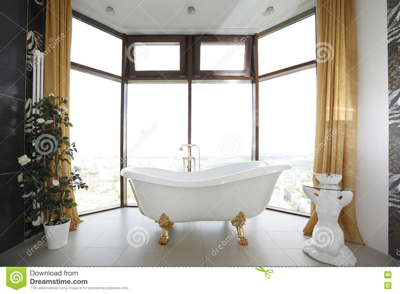 Classic bathroom design stock photo. Image of color, domestic - 72937700