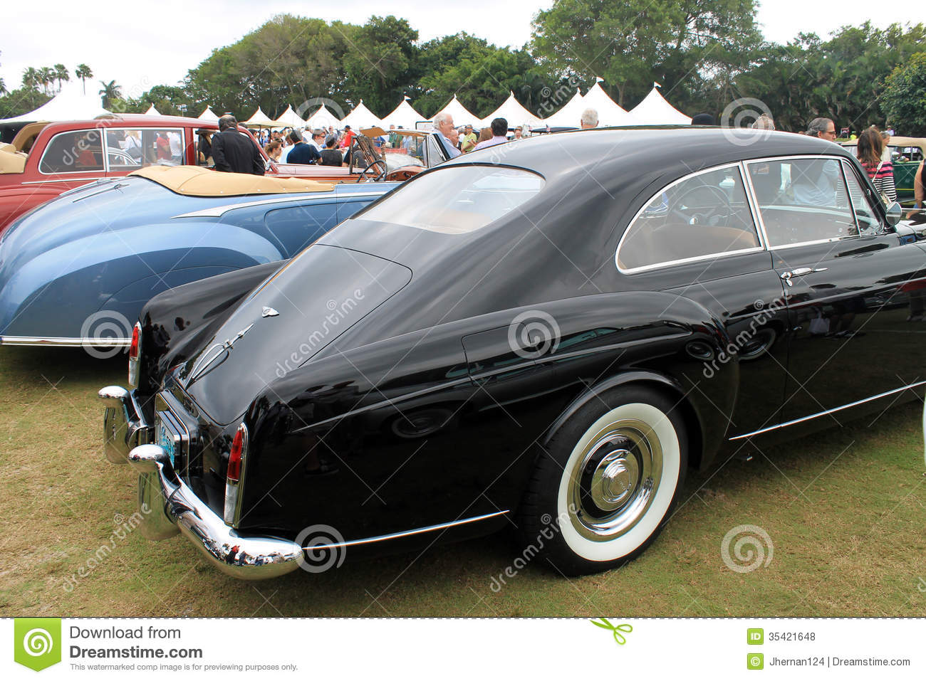Classic Bentley Continental Rear Quarter Editorial Stock Photo