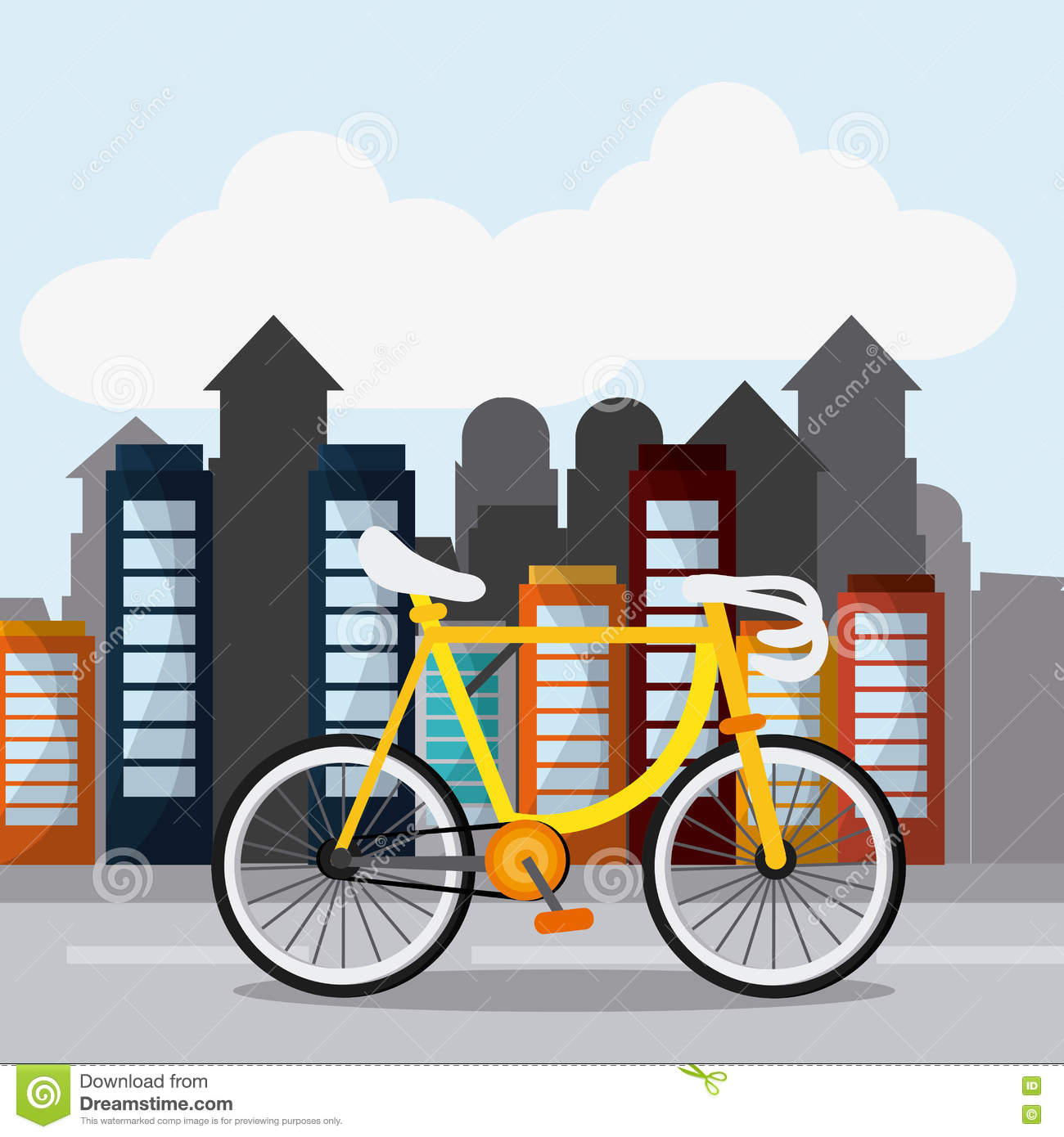classic bicycle bike and city icon sport concept graph stock rh dreamstime com Funny Bicycle Clip Art Bicycle Rider Clip Art