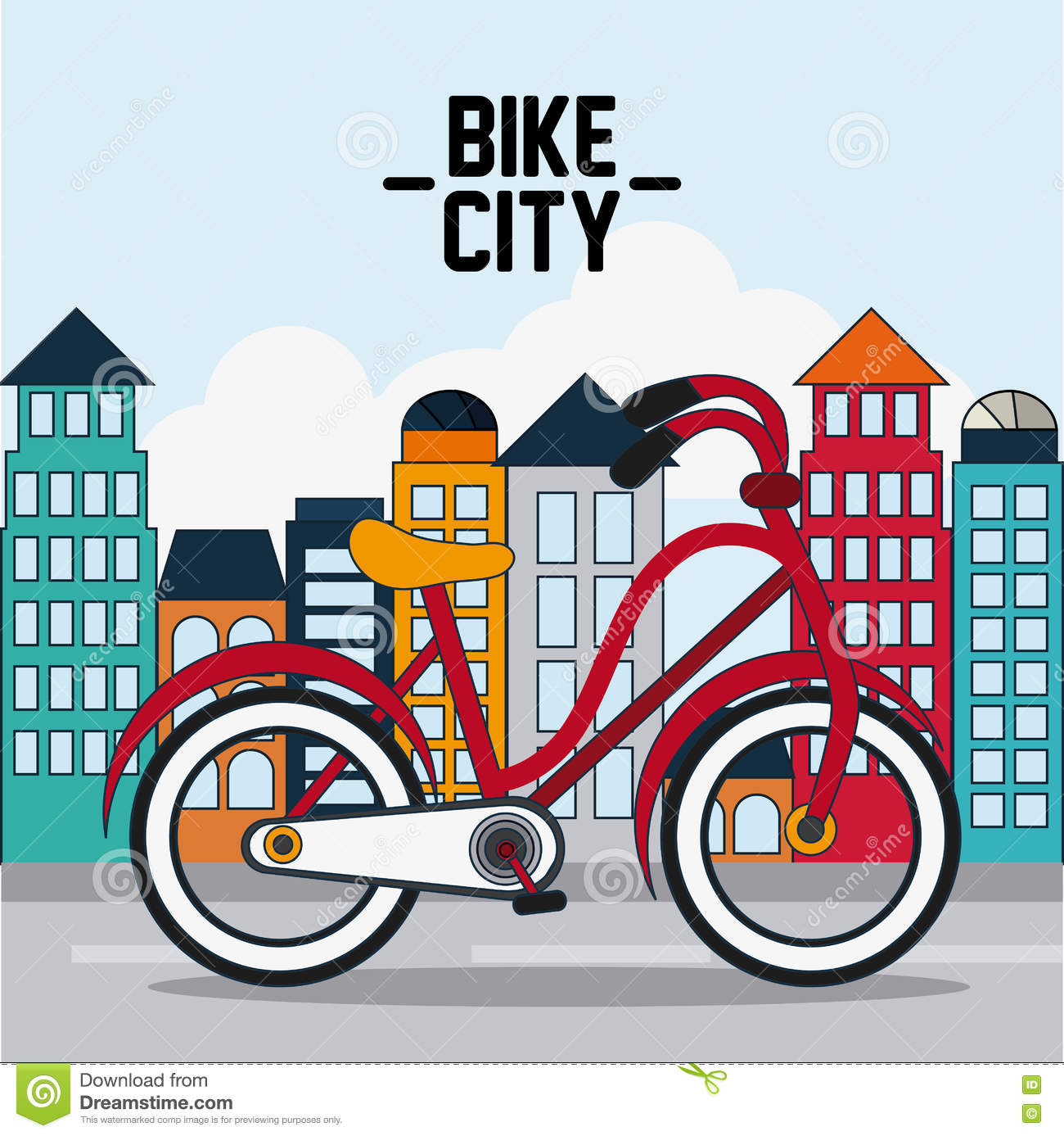 classic bicycle bike and city icon sport concept graph stock rh dreamstime com Car Clip Art Bicycle Silhouette Clip Art