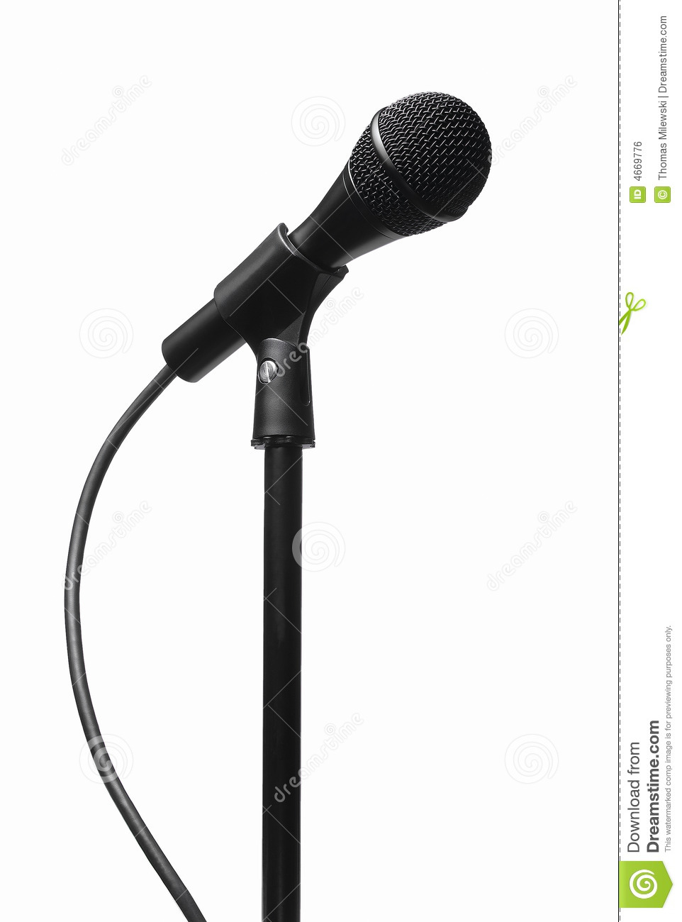 classic black microphone on stand royalty free stock image