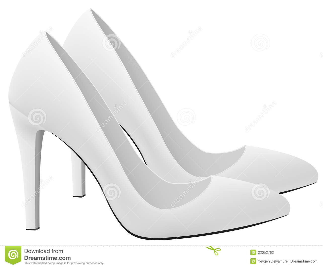 Classic blank high heels shoes template stock photos for High heel shoe template craft
