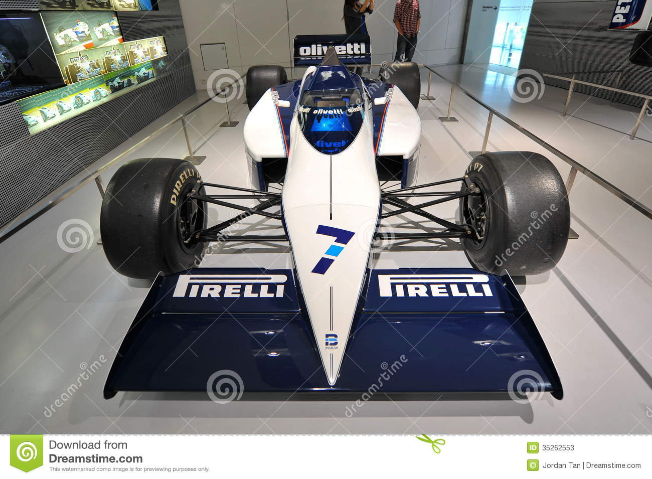 classic bmw f1 car on display in bmw museum editorial stock photo image 35262553. Black Bedroom Furniture Sets. Home Design Ideas