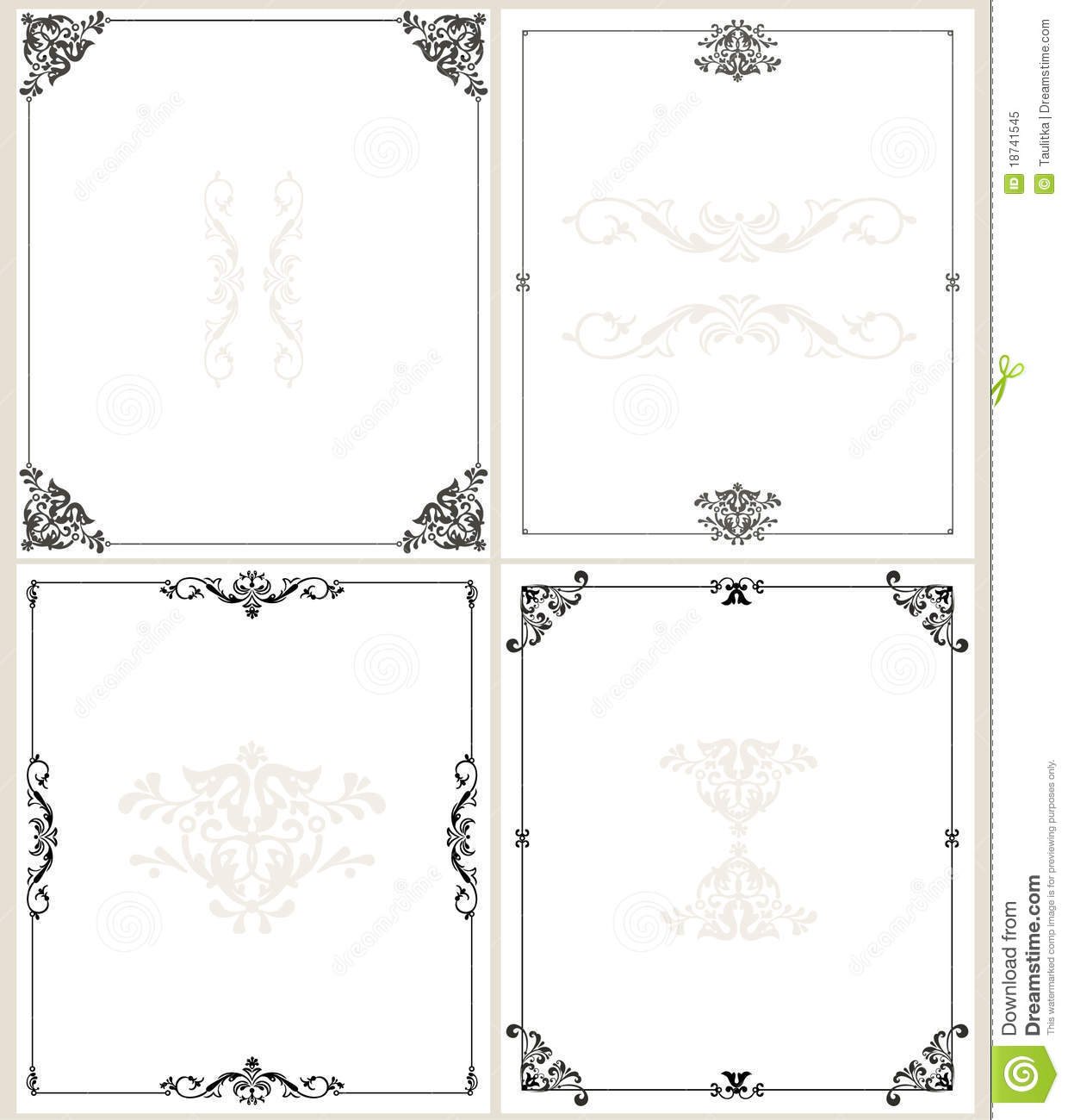 Classic Border Frames Royalty Free Stock Photo - Image: 18741545 Vintage Border Vector