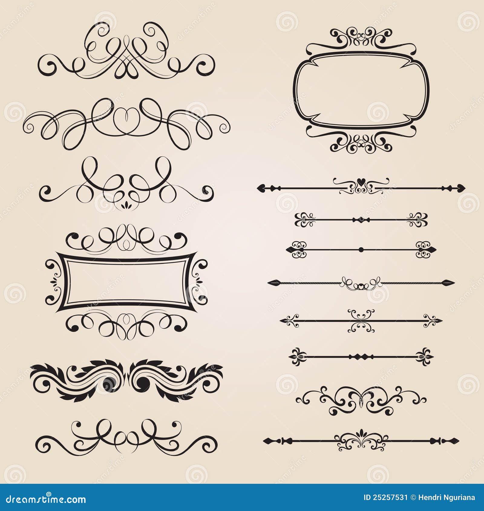 Classic Border Ornament Stock Image - Image: 25257531