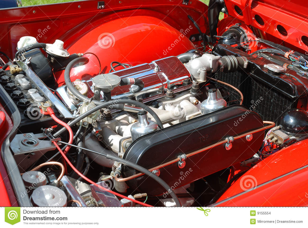 Classic British Car Engine Bay Stock Photo - Image of show, clipping ...
