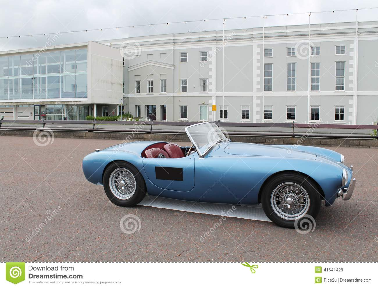 Here is a classic ,retro, vintage European British sports car.
